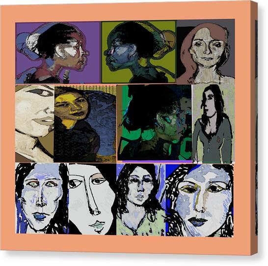Lets's Make Faces Canvas Print by Noredin Morgan