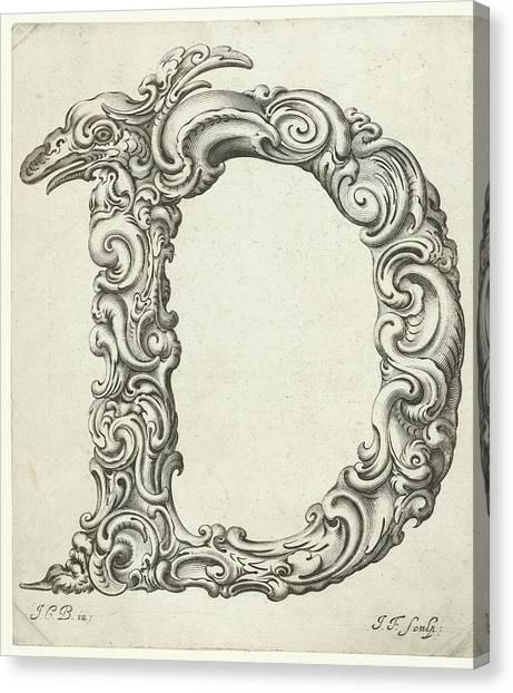 E.t Canvas Print - Letter D by Jeremias Falck