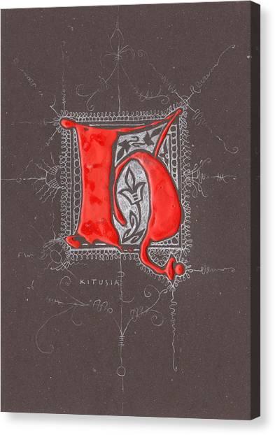 Letter H Canvas Print by Kristine Jansone