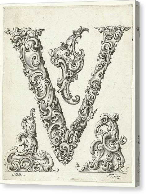 E.t Canvas Print - Letter V by Jeremias Falck
