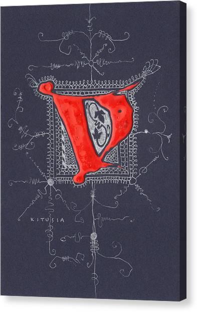 Letter V Canvas Print by Kristine Jansone