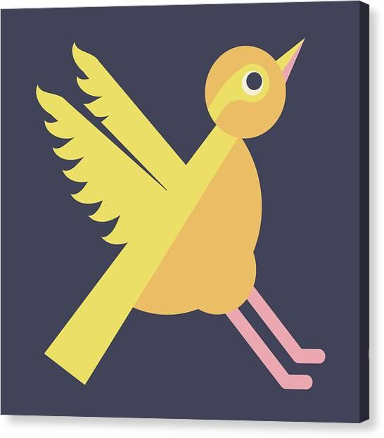 Letter X - Animal Alphabet - Xenops Monogram Canvas Print