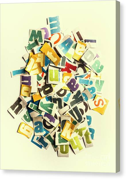 Cutout Canvas Print - Letters In Jumble by Jorgo Photography - Wall Art Gallery