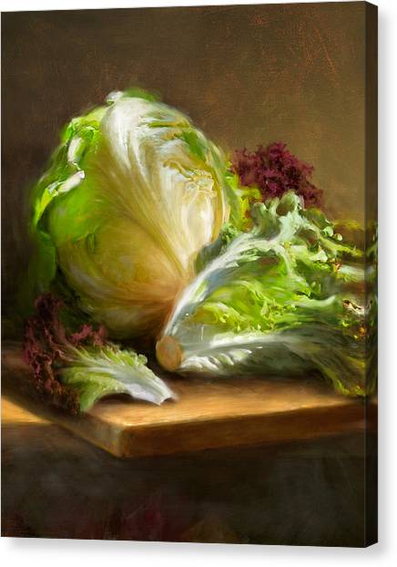 Vegetables Canvas Print - Lettuce by Robert Papp