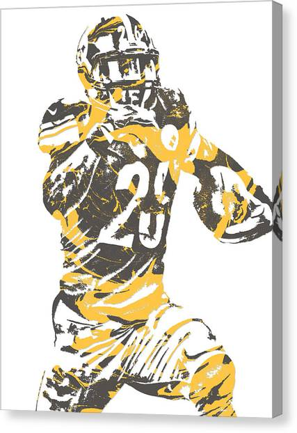 Pittsburgh Steelers Canvas Print - Leveon Bell Pittsburgh Steelers Pixel Art 10 by Joe Hamilton