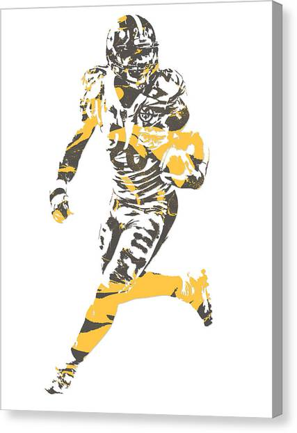Pittsburgh Steelers Canvas Print - Leveon Bell Pittsburgh Steelers Pixel Art 11 by Joe Hamilton