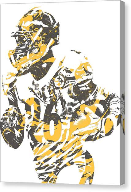 Pittsburgh Steelers Canvas Print - Leveon Bell Pittsburgh Steelers Pixel Art 12 by Joe Hamilton