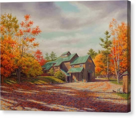 Barns Canvas Print - Levon Helm Studios Legendary Ramble Barn by Barry DeBaun