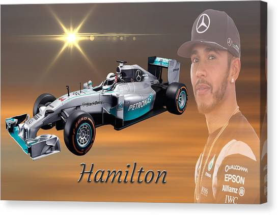 Formula 1 Canvas Print - Lewis Hamilton by Smart Aviation