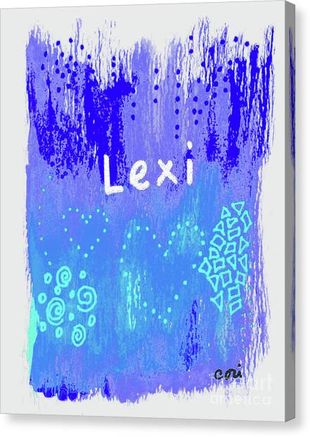 Canvas Print featuring the painting Lexi 2 by Corinne Carroll