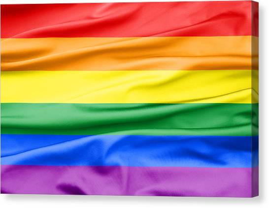 Lgbt Rainbow Flag Canvas Print