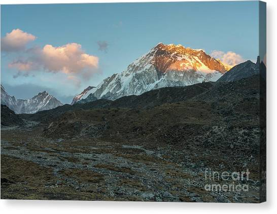 K2 Canvas Print - Lhotse Alpenglow by Mike Reid