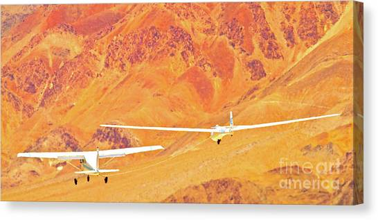 Libelle Sailplane On Tow Canvas Print