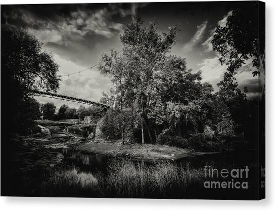 Liberty Bridge Greenville Sc Canvas Print