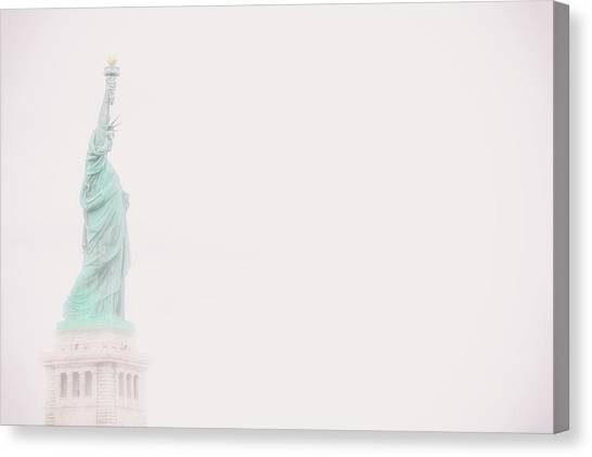 Immigration Canvas Print - Liberty Fog by Martin Newman