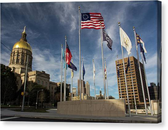 Liberty Plaza Canvas Print