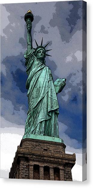 Liberty Poster Canvas Print by William  Todd