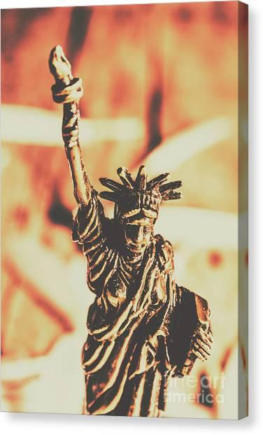 Bronze Canvas Print - Liberty Will Enlighten The World by Jorgo Photography - Wall Art Gallery