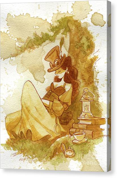 Librarian Canvas Print by Brian Kesinger