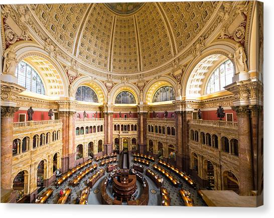 Library Of Congress I Canvas Print by Robert Davis
