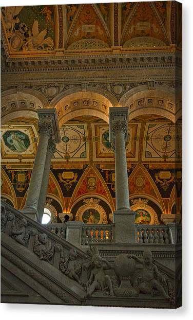 Library Of Congress Staircase Canvas Print