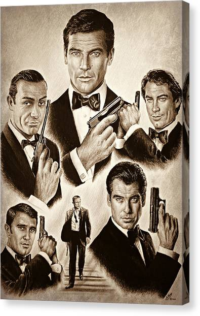 Dickie Moore Canvas Print - Licence To Kill Smooth Edit by Andrew Read