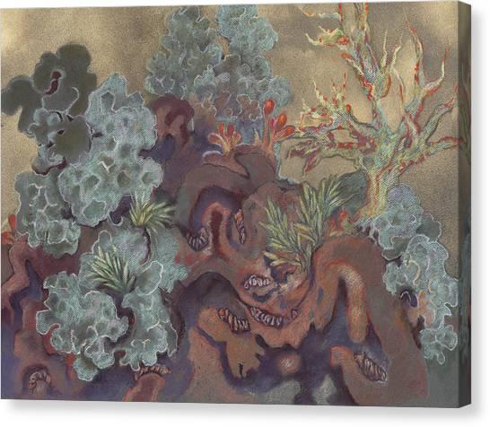 Lichen Landscape Canvas Print