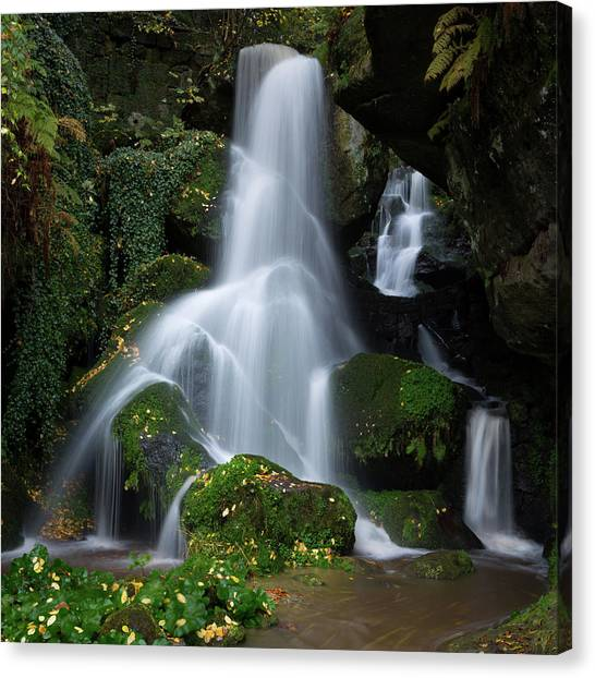 Lichtenhain Waterfall Canvas Print