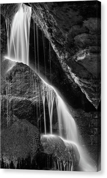Lichtenhain Waterfall - Bw Version Canvas Print