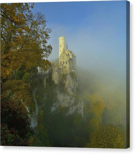 Castle Canvas Print - Lichtenstein Castle by Anna & Maciej Wojtas