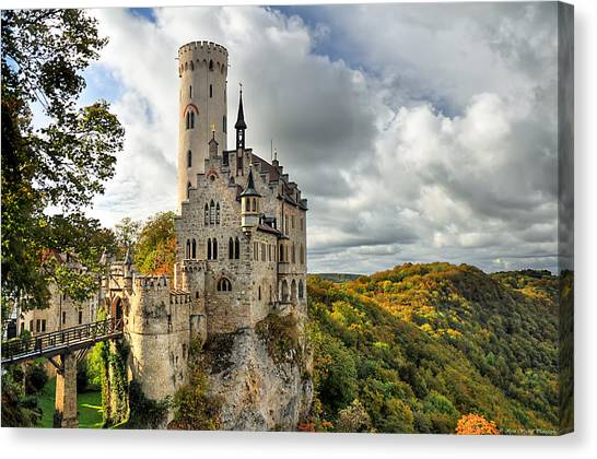 Lichtenstein Castle Canvas Print by Ryan Wyckoff