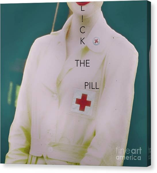 Lick The Pill  Canvas Print by Steven Digman