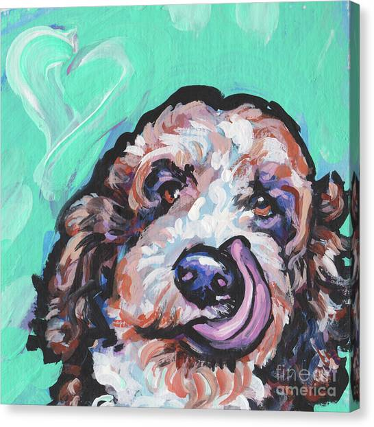Poodles Canvas Print - Lickety Doodle by Lea
