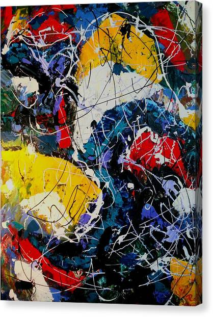 Canvas Print featuring the painting Life - A Bit Of Everything by Ray Khalife