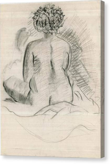 Life Drawing Canvas Print by Joseph  Arico