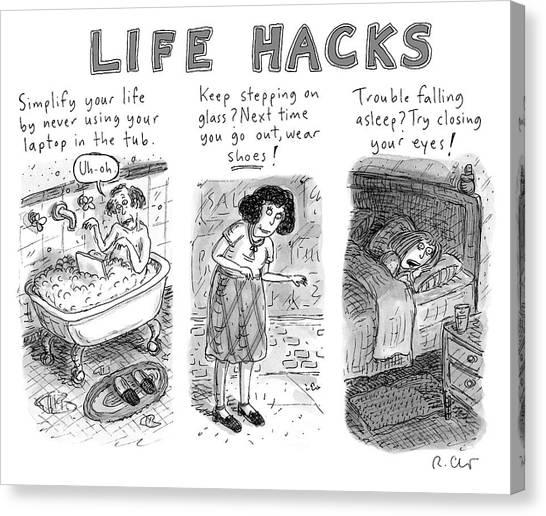 Life Hacks Canvas Print