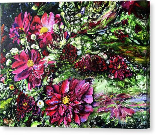 Life In A Bloom Field Canvas Print