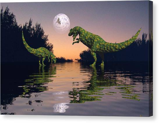 Life In The Swamp Canvas Print by Claude McCoy