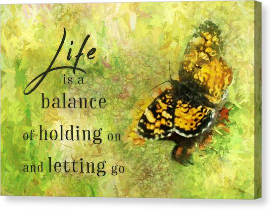 Life Is A Balance Canvas Print
