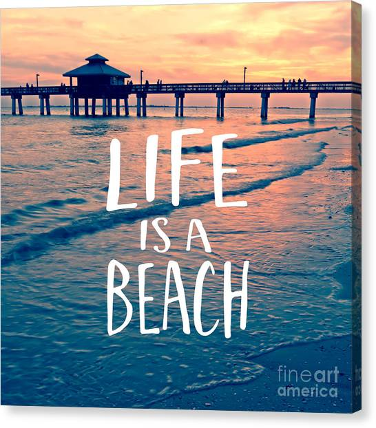 Florida House Canvas Print - Life Is A Beach Tee by Edward Fielding