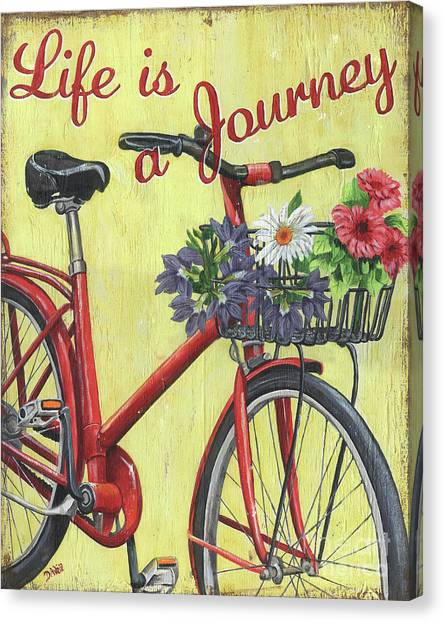 Bicycle Canvas Print - Life Is A Journey by Debbie DeWitt