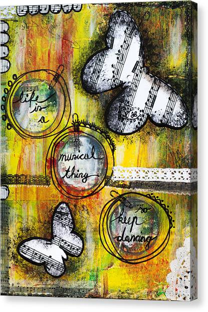 Life Is A Musical Thing Canvas Print