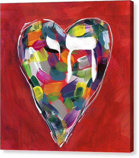 Heart Canvas Print - Life Is Colorful - Art By Linda Woods by Linda Woods