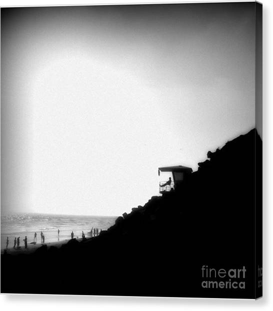 Lifeguard Canvas Print - Life Is Good by Leah McPhail