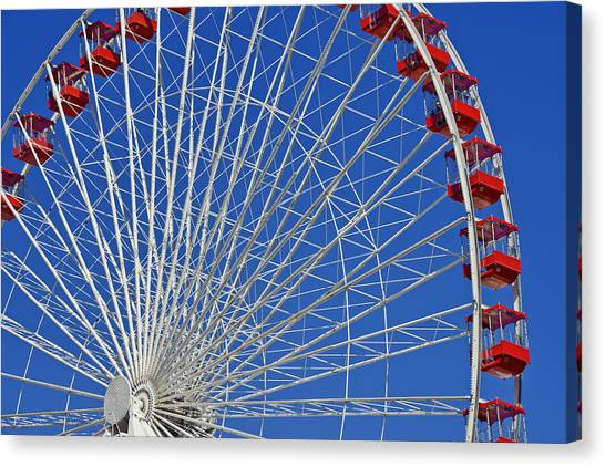 Lake Michigan Canvas Print - Life Is Like A Ferris Wheel by Christine Till