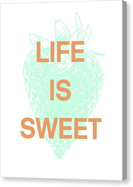 Strawberries Canvas Print - Life Is Sweet- Art By Linda Woods by Linda Woods