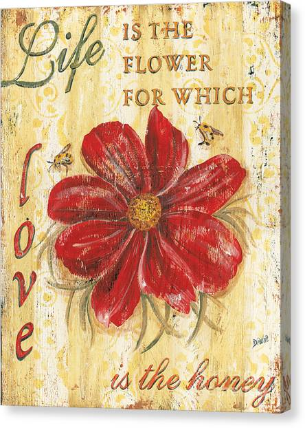 Motivational Canvas Print - Life Is The Flower by Debbie DeWitt