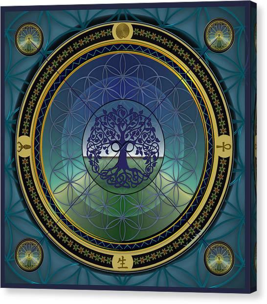 Life Mandala Canvas Print