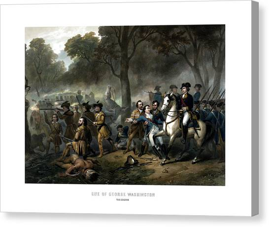 George Washington Canvas Print - Life Of George Washington - The Soldier by War Is Hell Store
