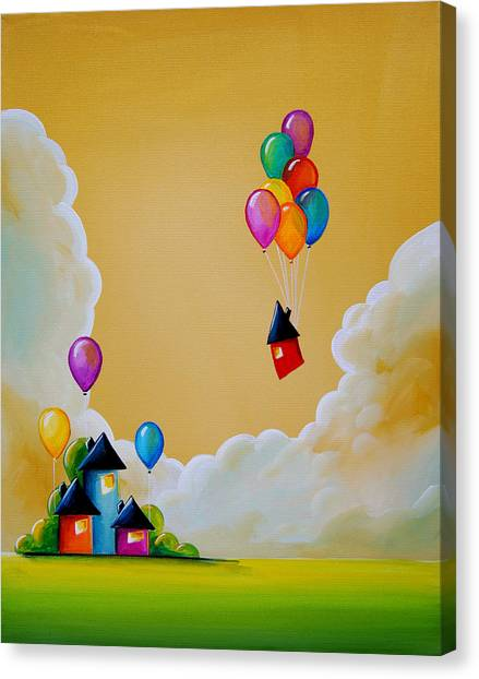 Imagination Canvas Print - Life Of The Party by Cindy Thornton